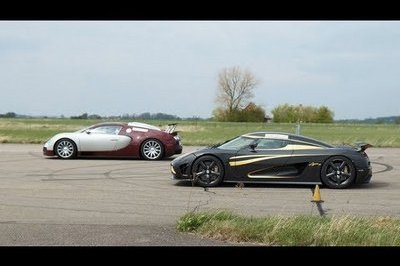 Video: Bugatti Veyron and Koenigsegg Agera S Hundra Race in True Battle of the Titans