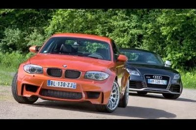 Video: BMW 1M Coupe throws down with the Audi TT-RS
