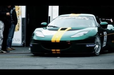 Video: FIA GT4 Lotus race cars hangs out at the Nurburgring
