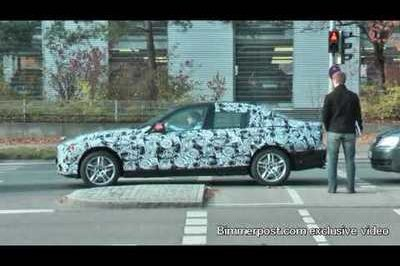 Spy video of next generation BMW 3-Series doing some test runs in Germany
