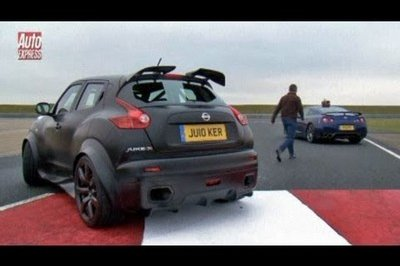 All In The Family: Nissan Juke-R meets the Nissan GT-R