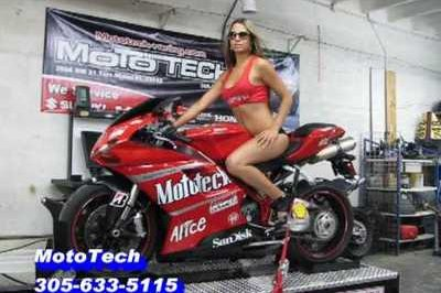 Ducati gets dyno tested by hot blonde