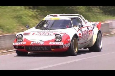 Chris Harris riding shotgun in a selection of classis Lancia rally cars