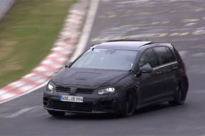 Video: Volkswagen Golf R VII Pushed Hard at Nürburgring