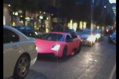 Pink Lamborghini Murcielago LP670-4 Super Veloce gets impounded in London