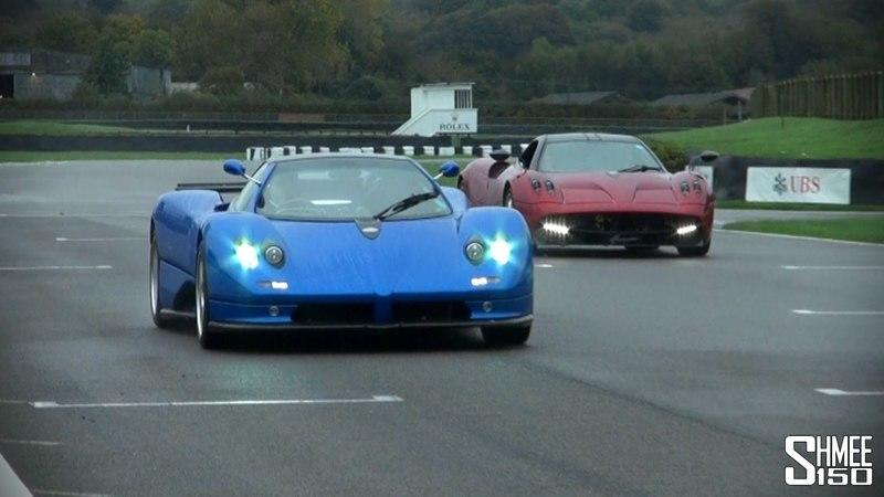 Video: Pagani Huayra and Zonda S Hit the Track