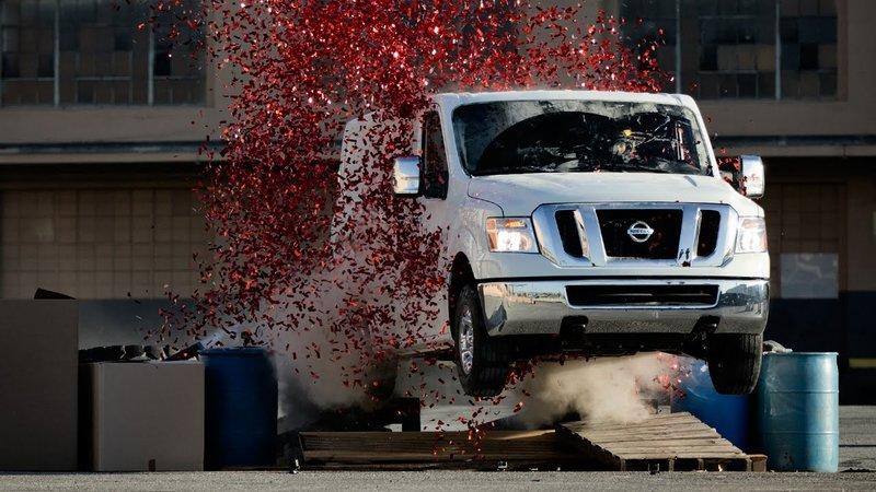Nissan's April Fools Joke is a Drifting NV3500 Cargo Van