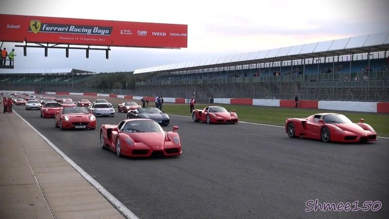 Video: 964 Ferraris participate in record-setting parade at Silverstone