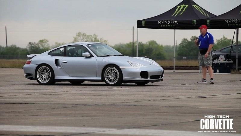 Video: Porsche 911 Turbo breaks 212 mph at Texas Mile