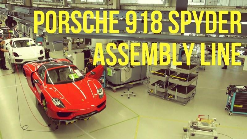 A Look at the Porsche 918 Spyder Assembly Line: Video