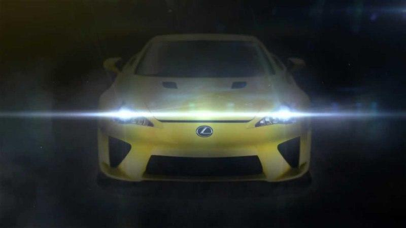 Video: Mysterious Lexus LF-A teased