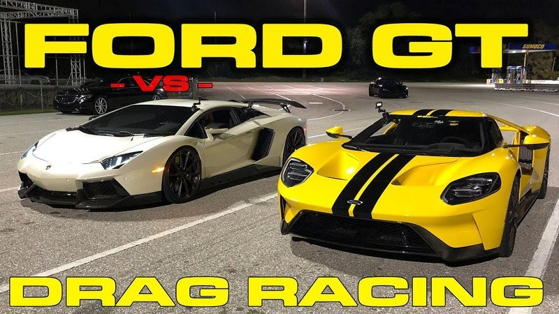 Watch a Ford GT Go Head-to-Head with a Lamborghini Aventador