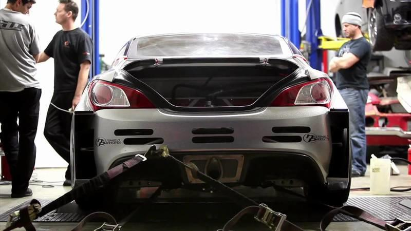 Genesis drift car hits the dyno.