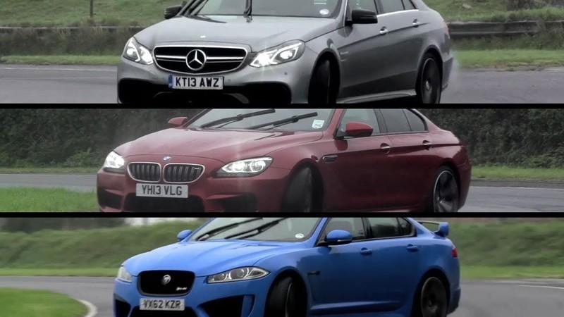 Video: Chris Harris Tests the Jaguar XFR-S, BMW M6 Gran Coupe and Mercedes-Benz E63 AMG