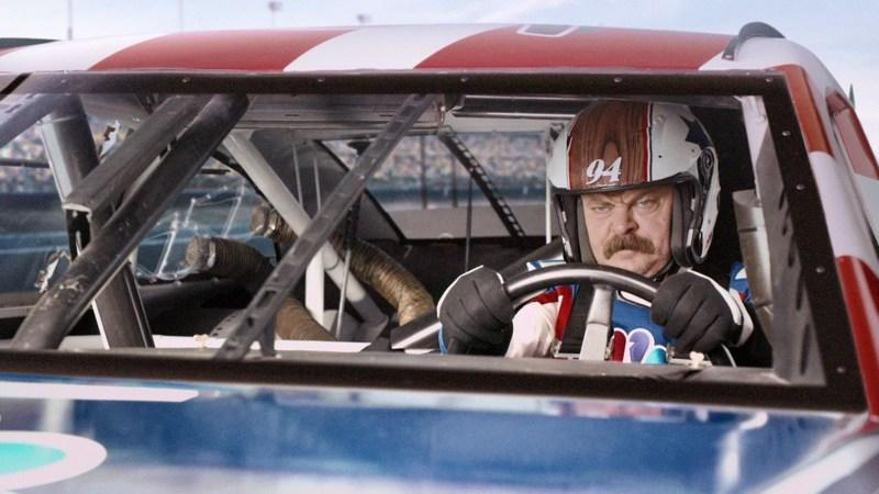 Nick Offerman Welcomes Us to a New Season of NASCAR: Video