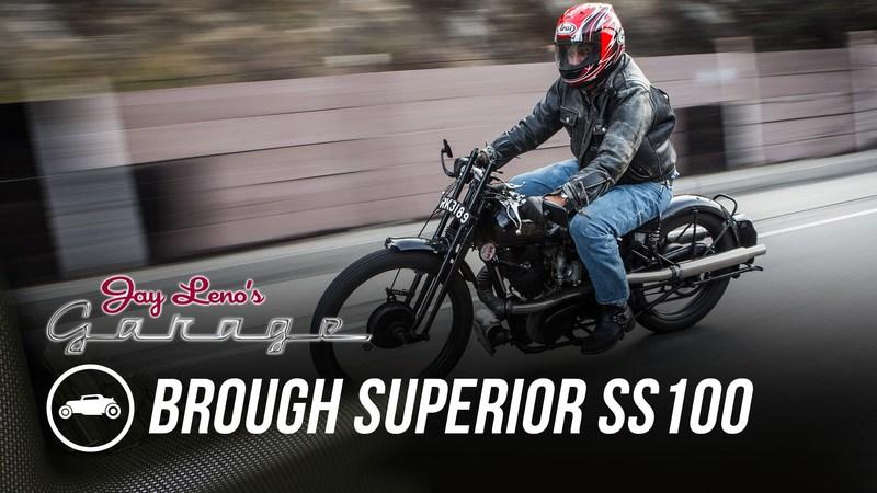 Video: Jay Leno Takes His 1925 Brough Superior S100 Out For A Spin