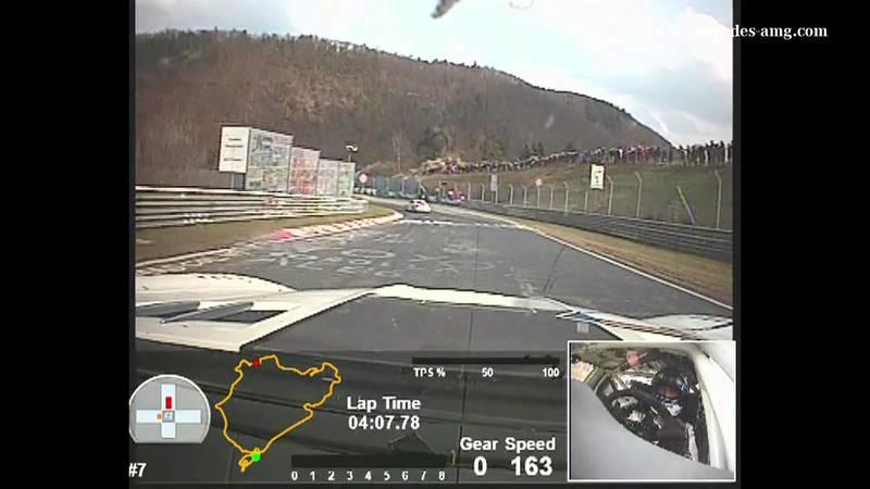 Video: Mercedes SLS GT3 laps the Green Hell