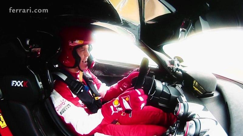 Sebastian Vettel Drives The Ferrari FXX K At Fiorano: Video
