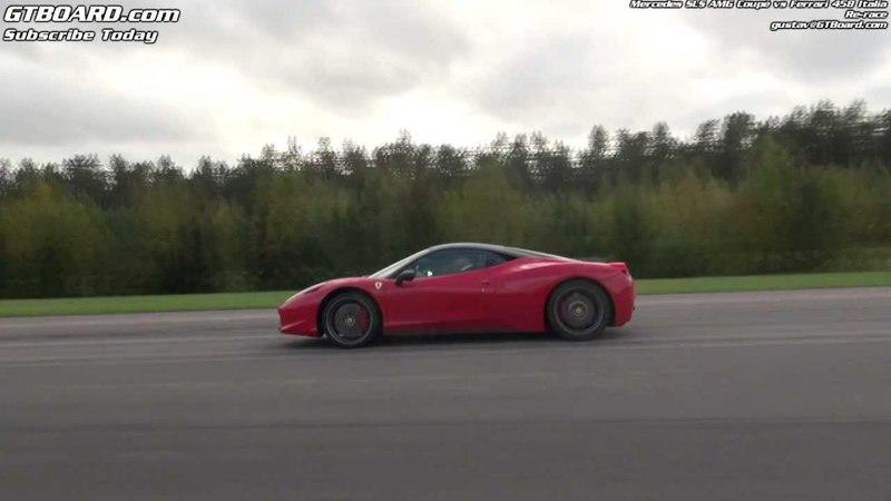Video: Mercedes SLS AMG vs Ferrari 458 Italia