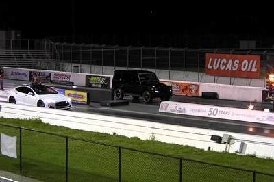Video: Tesla Model S P85 Vs. Mercedes G63 AMG on the Drag Strip