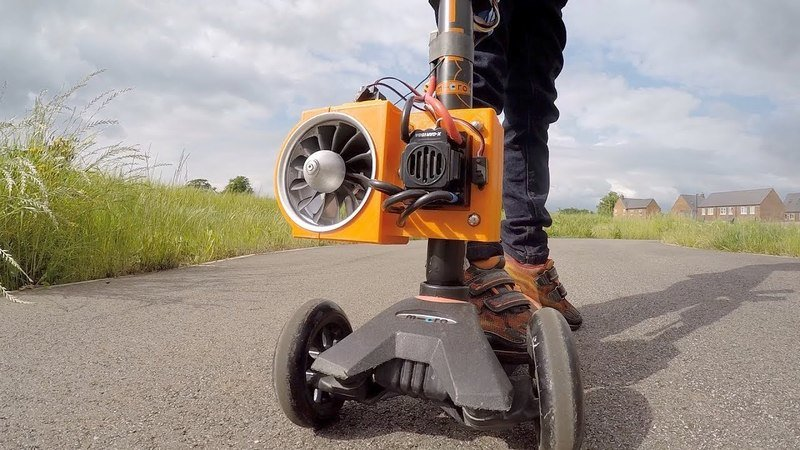 One Man's Turbine-Powered Scooter Creates the Biggest Smile Ever - Video