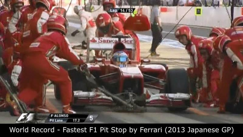 Video: Ferrari Breaks the F1 Pit Stop Record