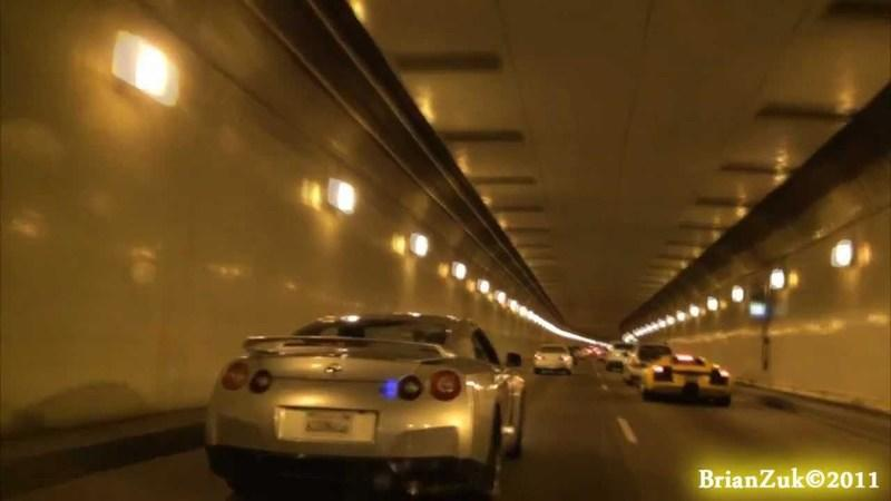 Video: Lamborghini Murcielago and Nissan GTR show off their new exhausts in a tunnel