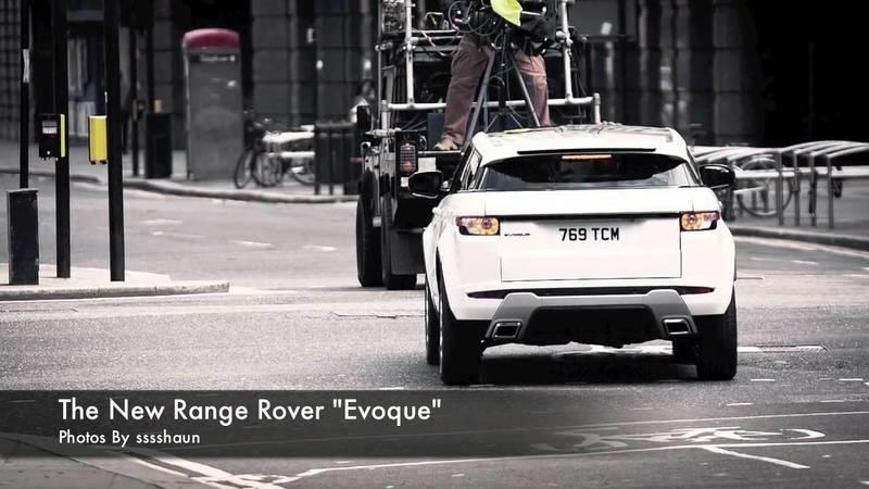 Range Rover Evoque spotted in London during commercial filming