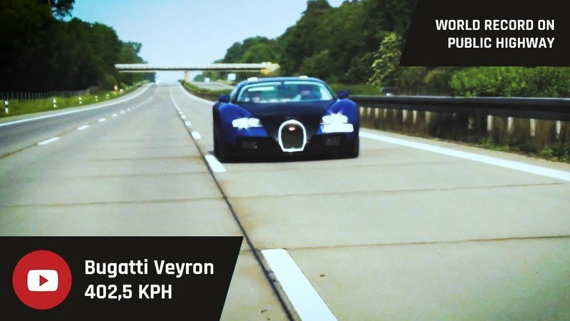 Watch a Bugatti Veyron Hit 250 MPH on the Autobahn: Video