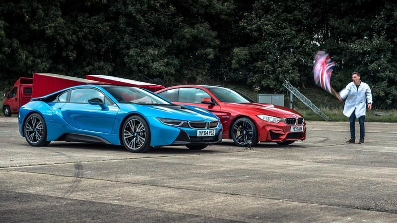 Top Gear Lines Up BMW M4 Against BMW i8: Video
