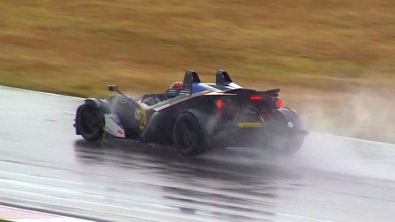 KTM X-bow Plus an Endurance Race and Rain Storm Equals a Wet Driver