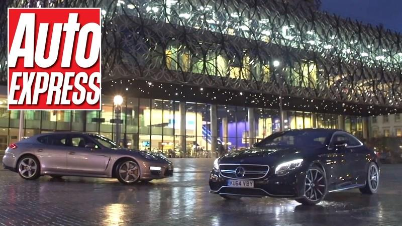 Video: Mercedes S63 AMG Coupe vs Porsche Panamera Turbo S