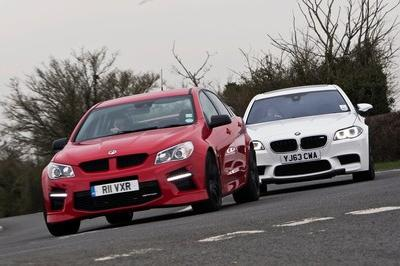 Video: Vauxhall VXR8 GTS Vs BMW M5 Competition