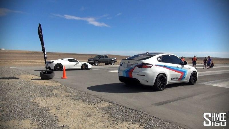 BMW X6 M Vs. Ferrari 458 Spider: Video