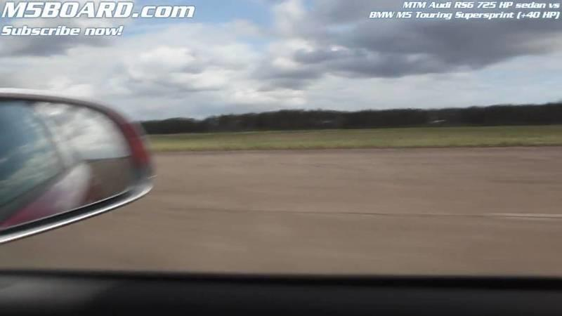 Video: MTM Audi RS6 vs Bmw M5 Touring