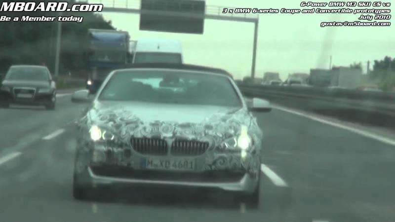 Trio of 2011 BMW 6-Series convertibles spied in Europe