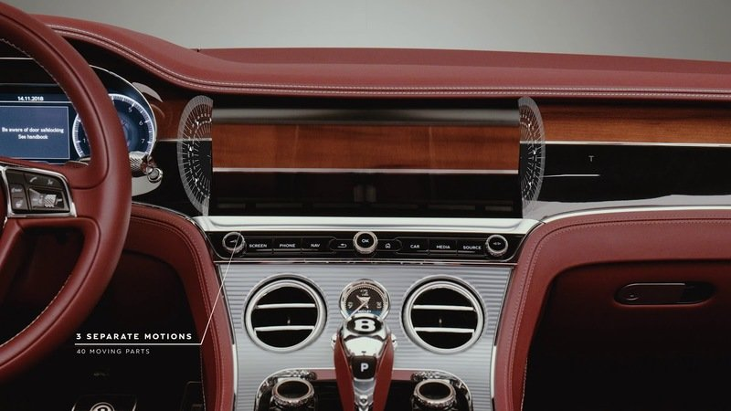 We Can't Get Enough of the Rotating Display in the Bentley Continental GT Convertible