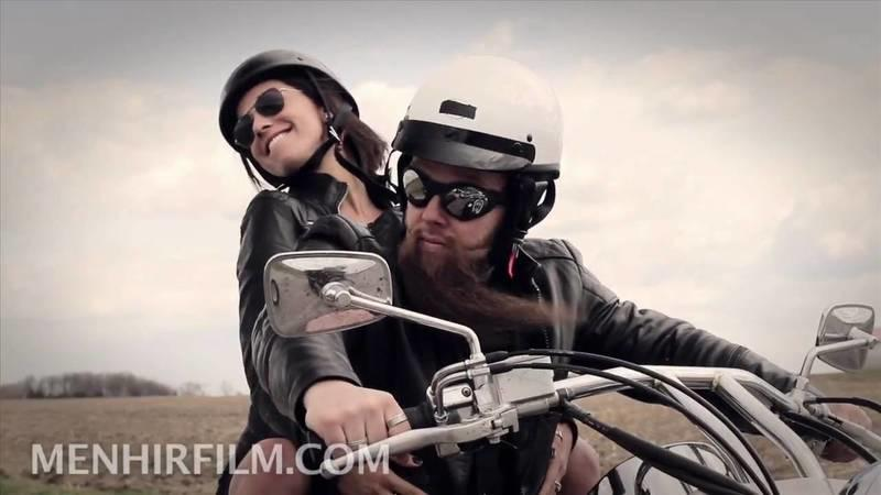 Video: sexy biker chick ad