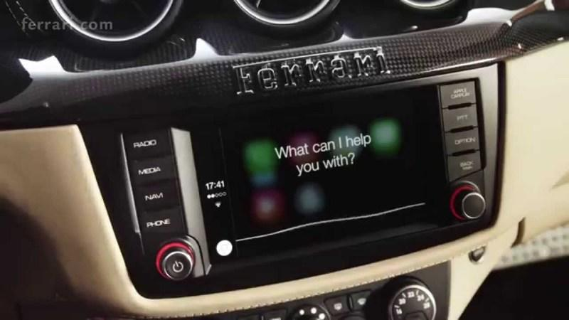 Ferraris Now shipping with Apple CarPlay