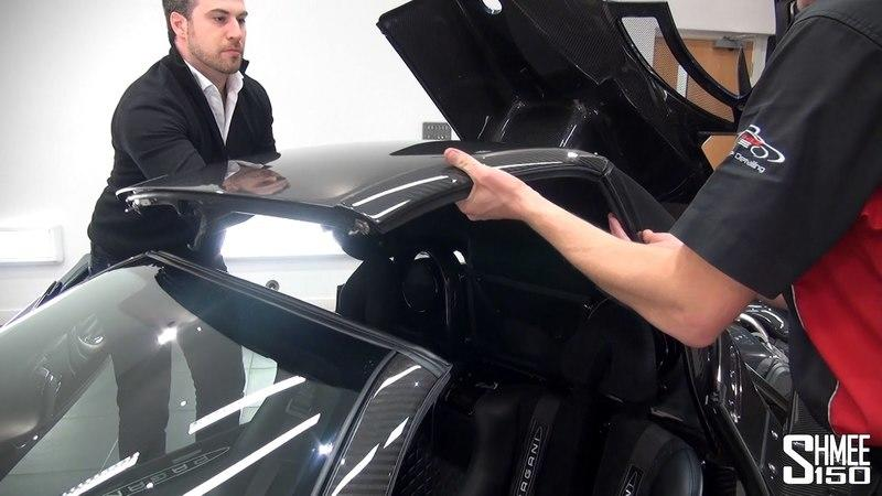 Shmee Explains How to Remove the Roof of a Pagani Zonda 760 Roadster: Video