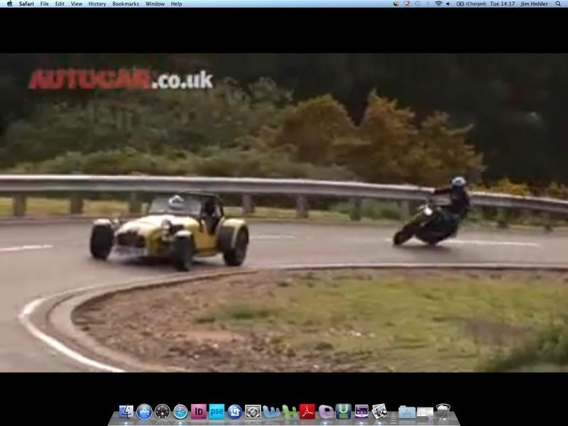 Hypermotard vs Caterham, just for the hell of it!