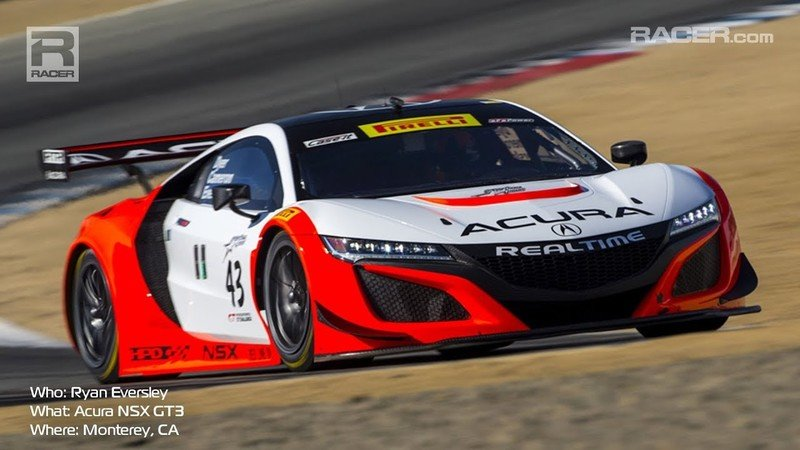 Take A Ride Around Laguna Seca In An Acura NSX GT3 Race Car: Video