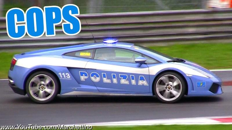 Video: Police Lamborghini LP560-4 launch and accelerations
