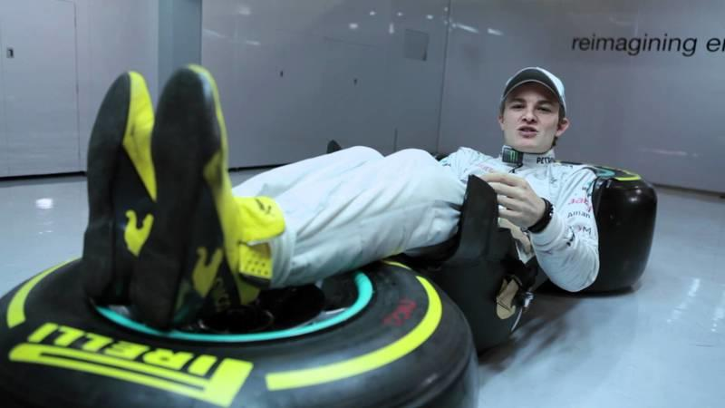 Thought driving an F1 car was easy? Check out Rosberg's driving position!