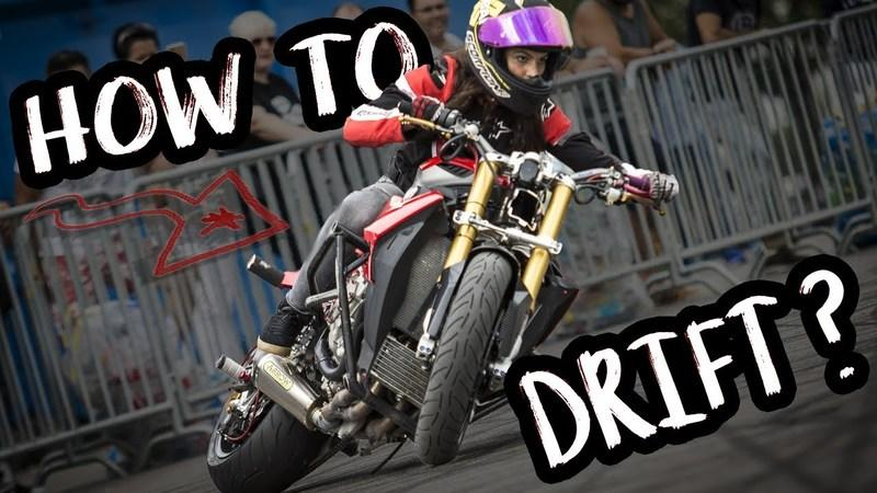 Sarah Lezito shows you how to drift on your bike
