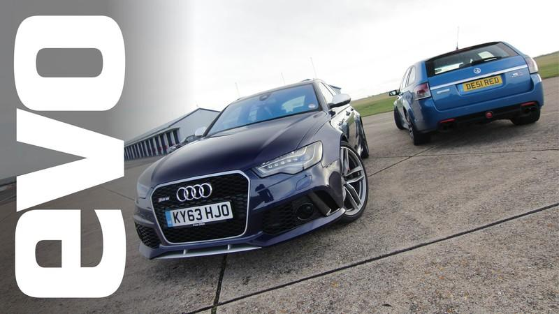 Video: Audi RS6 Avant Vs Vauxhall VXR8 Supercharged