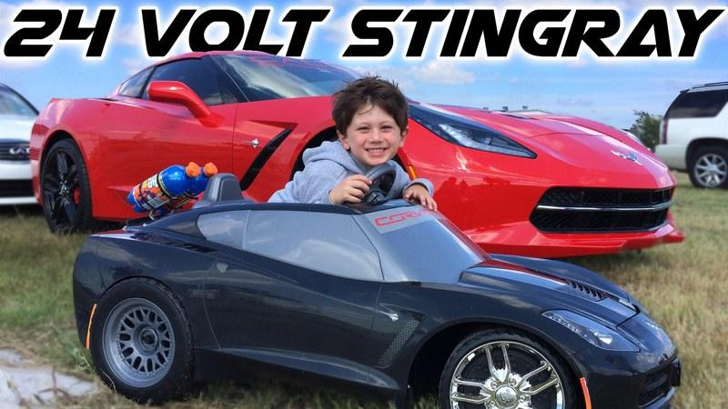 4-Year Old Drives The Coolest C7 Stingray Corvette: Video