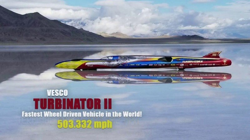 Video: The Vesco Turbinator II Cracks the 500-MPH Barrier at the Bonneville Salt Flats!