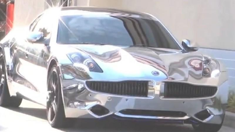 Justin Bieber's 2012 Fisker Karma all Chromed Out, Literally