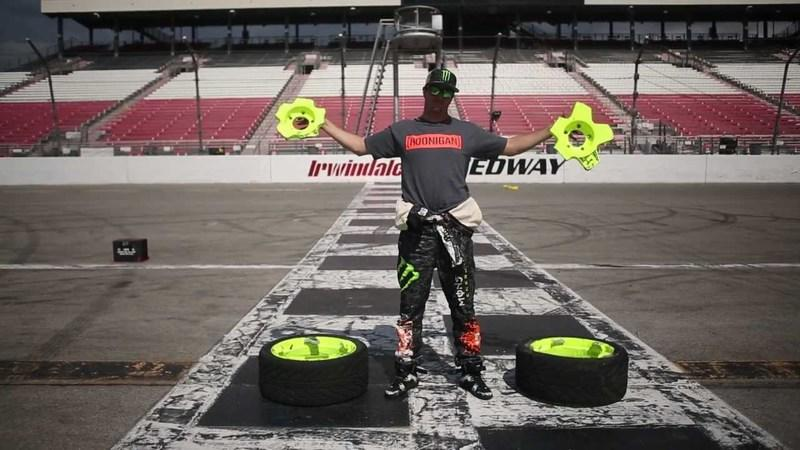 Video: Exploding Wheels Don't Matter to Ken Block